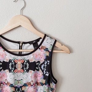 H&M Floral Sleeveless Mini Dress